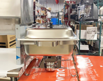 A close up image of catering equipment in the CARE Sales & Service showroom